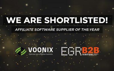 Voonix shortlisted at EGR B2B Awards 2020!